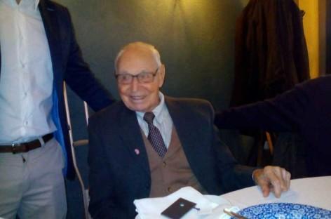 Josep Guinart celebra sus 100 años con un Esmorzar de Forquilla en la Fonda Europa