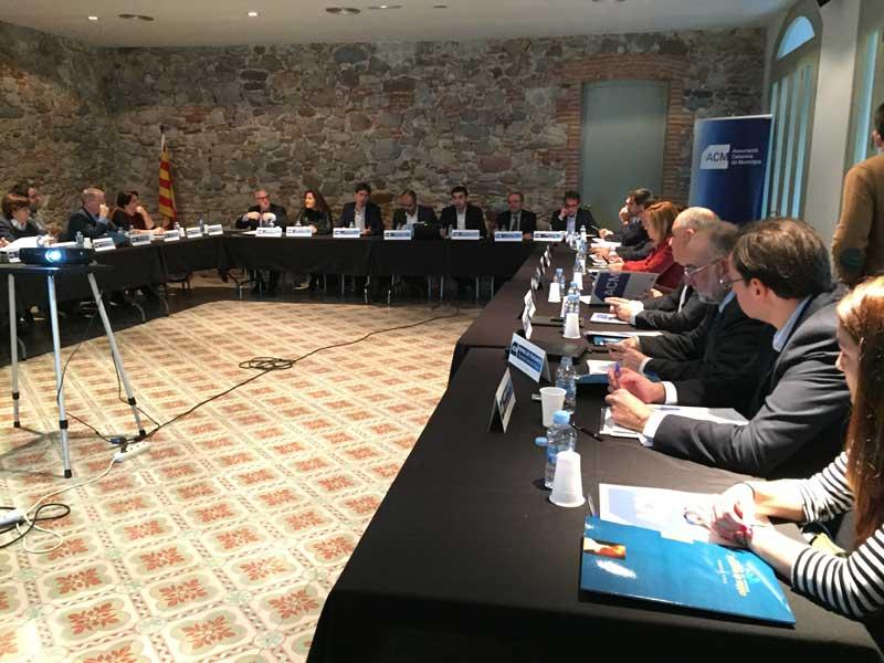 Un momento de la reunión de los alcaldes de la ACM