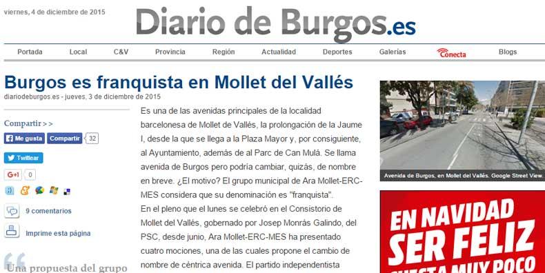 La noticia que publicaba el diario de Burgos este jueves