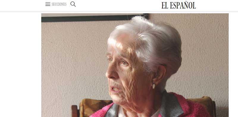 Captura de pantalla de la entrevista que la anciana de Granollers ha concedido a El Español