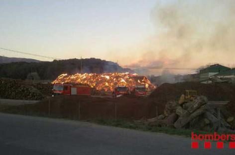 Espectacular video del incendio de Llinars