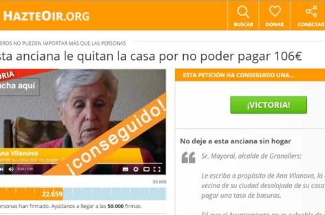 Josep Mayoral recibe 22.659 peticiones para que se ayude a la anciana a la que se quiere desalojar
