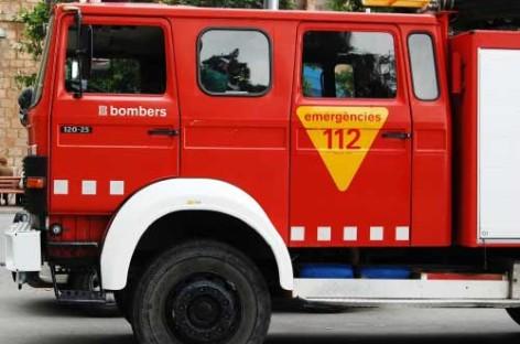 Una mujer herida al incendiarse una estufa de leña en una masía de Tagamanent
