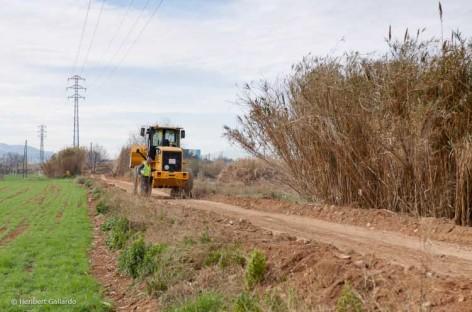 Empiezan las obras del camino del rio Tenes, entre Parets y Montmeló