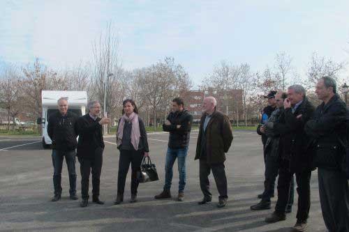Las autoridades locales de Granollers durante la inauguración. Foto: Ajt de Granollers