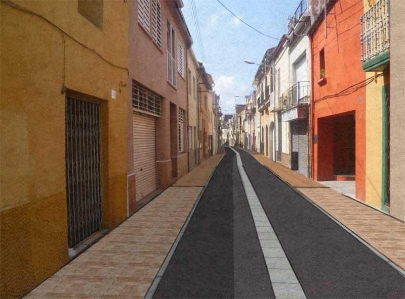 Vista virtual de la reforma de la calle Corró