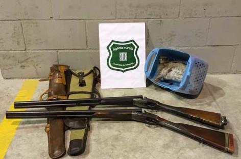 Capturado en Lliça de Vall cazando sin permiso de armas, seguro ni licencia de caza