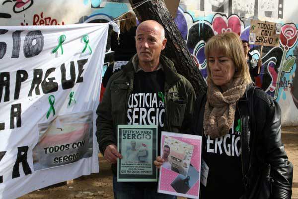 Nueva concentración pidiendo justicia para Sergio Marmol. Foto: Twitter 08CENTVINT