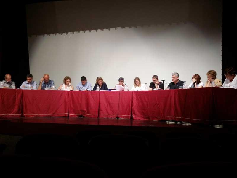 Todos los regidores de Vilanova en un pleno municipal