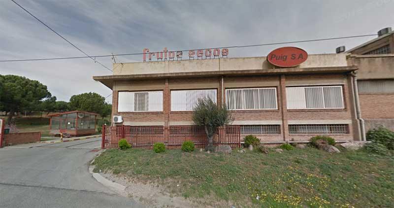 La empresa Puig, en el polígon Ramassar, junto a la carretera de  Cardedeu