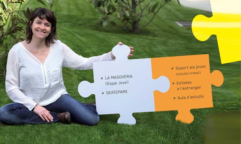 Teresa Masjuan, en la propaganda electoral de ERC