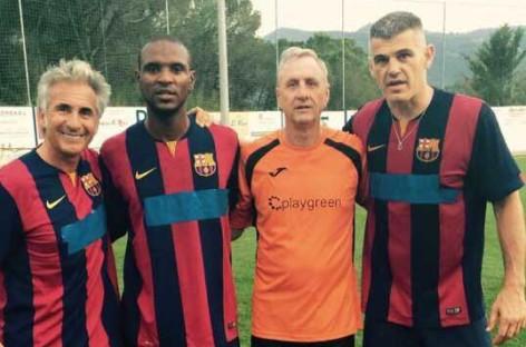 Johan Cruyff jugó su último partido en Aiguafreda