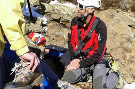 Los bomberos rescatan en helicóptero un excursionista accidentado en el Montseny