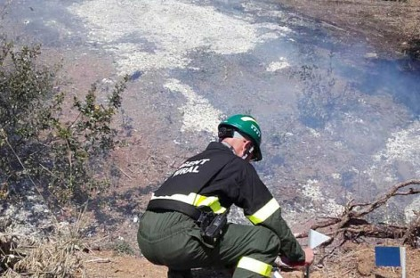 Abren una investigación sobre el origen del incendio de Sentmenat