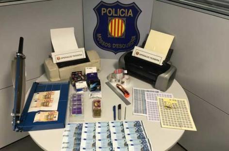 Dos detenidos en Granollers por falsificación de billetes de 20 y 50 euros