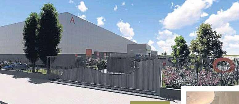 Imagen virtual del centro logítico de Martorelles difundido por la empresa constructora
