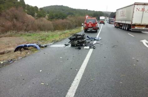Un vecino de Granollers fallece en la Rioja al chocar su coche con un camión