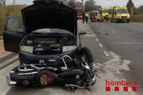 Un motorista herido en Parets en un accidente con un turismo