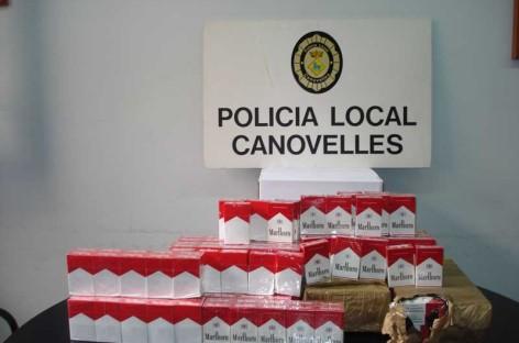 Decomisan en una tienda de alimentación de Canovelles tabaco de contrabando procedente de El Senegal