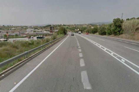 Empiezan las obras para instalar el separador en el tramo de la Ronda Nord de Granollers que ha sido escenario de diversos choques frontales