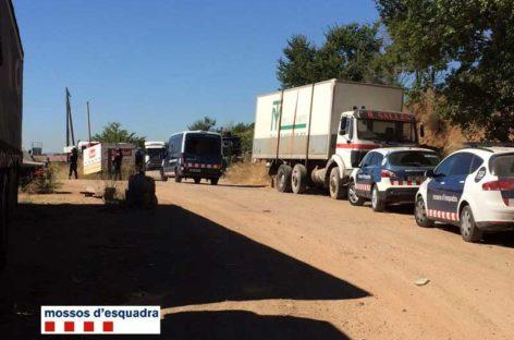 Seis detenidos en Canovelles en una operación contra los desguaces ilegales