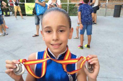 Doble medalla de plata en los campeonatos de España para la gimnasta del CNG Helena Lucas