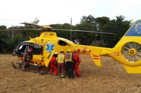 Tres personas heridas, una de ellas grave, en un accidente en la C-35, en Vilalba