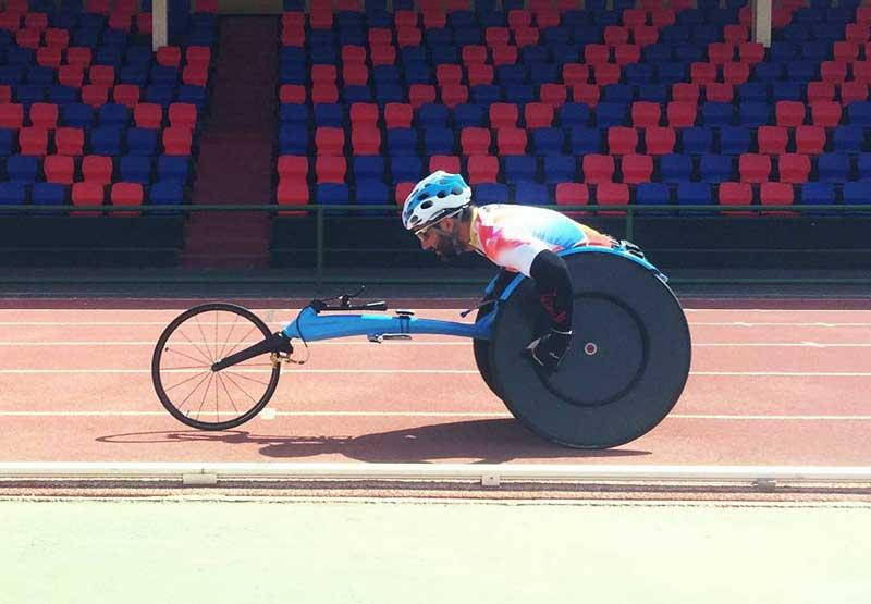 Jordi Madera en plena competición