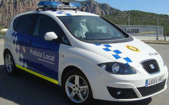 Vehículo de la Policia Local de Granollers