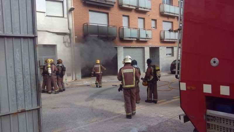 Momento de la actuación de los bomberos. Foto: AVPC Cardedeu