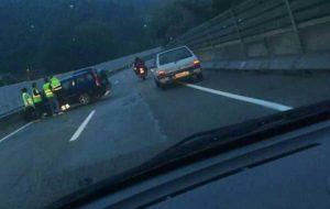 Otro accidente en El Figaró. Foto: Anti Radar Català