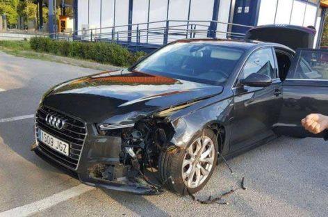 El presidente de la Generalitat tiene un accidente con el coche oficial en Sant Celoni