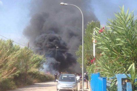 Un incendio de un tractor provoca alarma en la Garriga