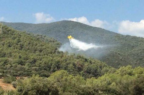Un fuego en un vehículo desencadenó un incendio forestal en Samalús