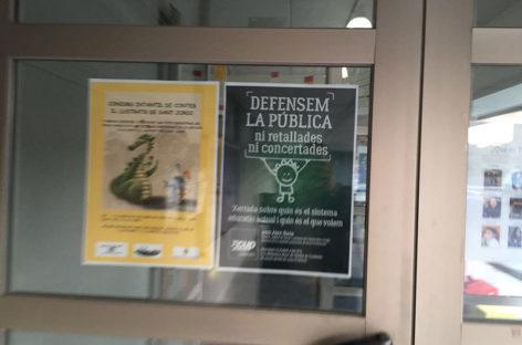 Un cartel de la CUP en una escuela de Cardedeu acaba provocando un debate en el Parlament
