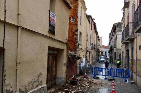 Las lluvias provocan el derrumbe de una casa en Cardedeu