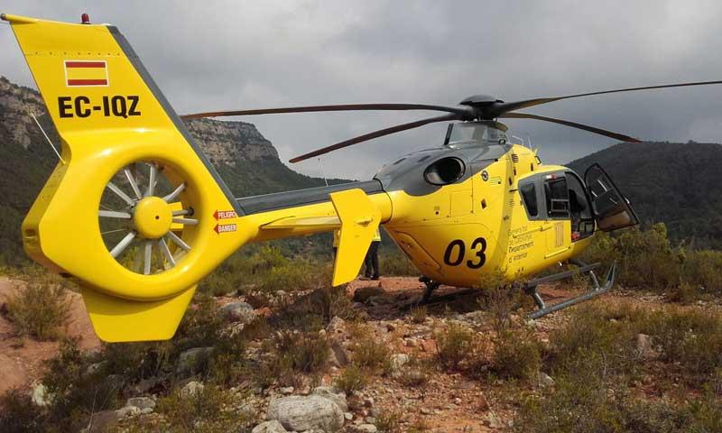 En el rescate ha participado un helicóptero