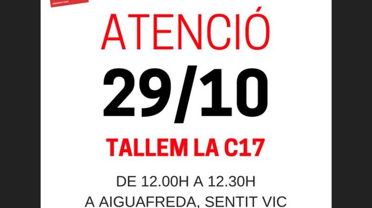 Interior autoriza a cortar la C-17 el sábado en protesta por los accidentes