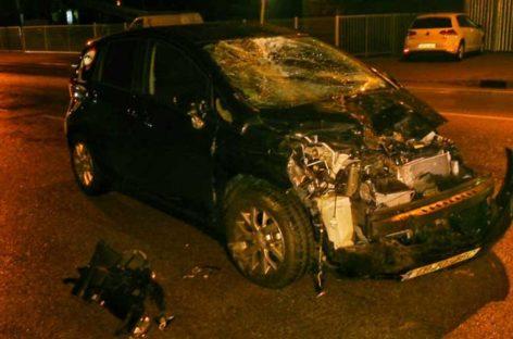 Un conductor de Palautordera se estrella de noche contra una manada de vacas