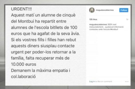 Un niño de Caldes coge 10.000 euros de su abuela y los reparte entre los compañeros de la escuela
