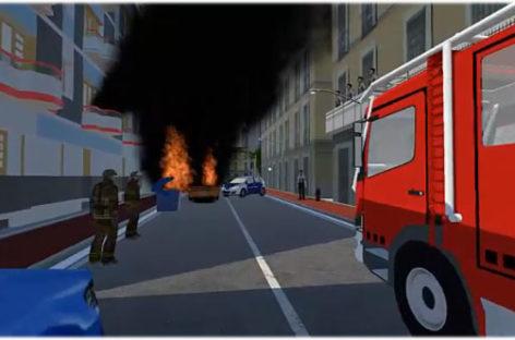 Los bomberos harán prácticas virtuales gracias a un juego desarrollado por alumnos de la Escola Pia de Granollers