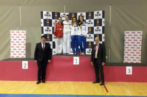 Andrea Lucero, de Les Franqueses, subcampeona de España de karate
