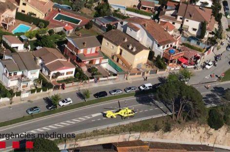 Fallece un motorista de 24 años en Sant Fost al estrellarse contra un coche