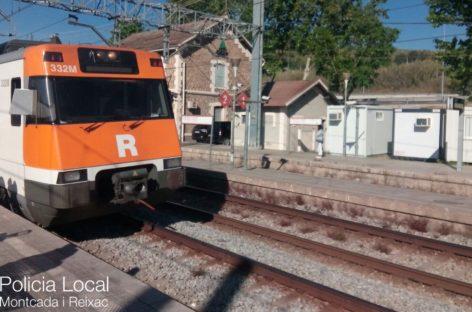 Un nuevo atropello mortal en Montcada provoca retrasos en las líneas R3 y R4