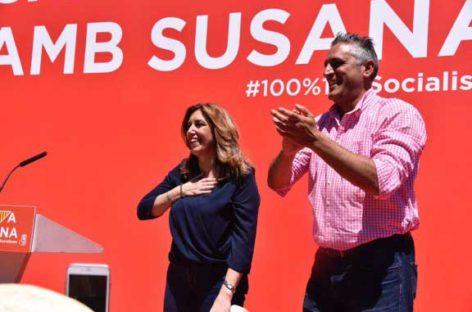 Susana Diaz defiende en Cànoves ante 600 personas su proyecto para el PSOE