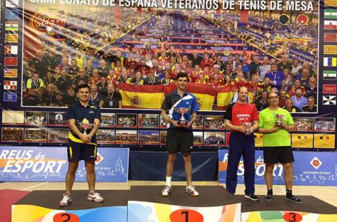 El paretense Agustí Martín campeón de España de Tenis Mesa para veteranos