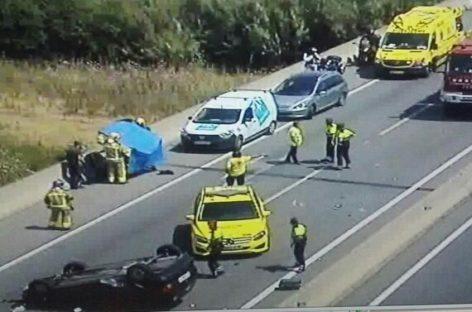 Un herido en un grave accidente en la C-17 en la Llagosta