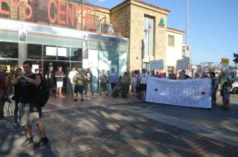 Segunda manifestación en la estación de Francia de Granollers