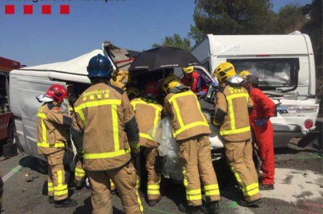 Una persona herida grave en un accidente múltiple en la AP-7 en Sant Celoni