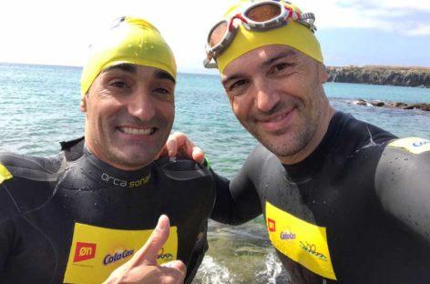 Luque y Mingote superan su reto solidario y cruzan el estrecho de Gibraltar